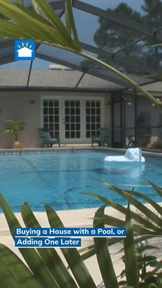 Should you buy a home with a pool or add one later? NewHomeSource looks at the pros and cons of each, as well as a third option: building a brand-new home with a pool. Home Buying Process, Buying A New Home, Pool Houses, Swimming Pools, Third, New Homes, Wellness, Ads, Building