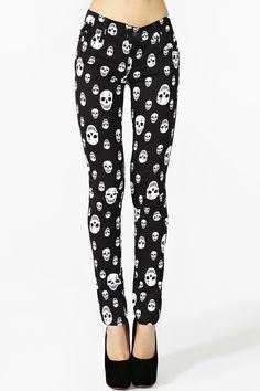 Skull Skinny Jeans in Sale Bottoms at Nasty Gal