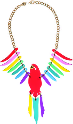 Parakeet Large Necklace - Red Multi - £150: http://www.tattydevine.com/parakeet-large-necklace-red-multi.html