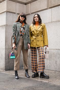 Outfit Ideas: The Best Street Style From Fall 2019 New York Fashion Week - Glamour Cool Street Fashion, Look Fashion, Fashion Outfits, Vintage Street Fashion, Funky Fashion, Fashion Heels, Fashion Tips, Spring Fashion Trends, Autumn Fashion
