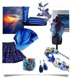"""""""Midnight Blue Finds"""" by crystalglowdesign ❤ liked on Polyvore featuring art"""