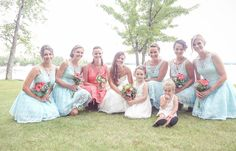 Bridesmaids and flower girls | Vintage wedding photography | www.newvintagemedia.ca | Kawartha Lakes Wedding