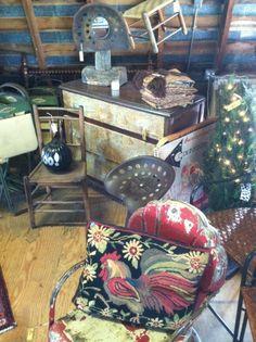Shabby Cottage Home Decor's spot at Vintage Barn Sale.  Shabbycottagehomedecor.com