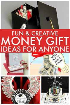 More than 20 Creative Money Gift Ideas Money gift ideas for graduation and birthdays! Easy ways to give money in a unique way for the graduate or anyone on you. Graduation Gifts For Boys, Graduation Diy, Grad Gifts, Dorm Gifts, Creative Birthday Ideas, Birthday Ideas For Her, Birthday Money, Christmas Birthday, Birthday Gifts