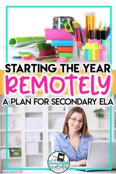 Start teaching your students remotely with this plan for remotely teaching middle school ELA and high school English. #remoteteaching #distanceteaching #secondaryELA Online Middle School, Middle School Reading, Middle School English, Middle School Classroom, English Classroom, English Teachers, Virtual High School, High School Activities, Teaching Literature