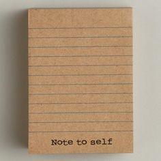 Kraft Sticky Notepad