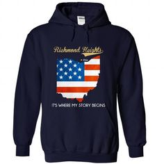 Richmond Heights - Ohio - Its Where My Story Begins ! - #monogrammed sweatshirt #pullover sweatshirt. LIMITED TIME => https://www.sunfrog.com/States/Richmond-Heights--Ohio--Its-Where-My-Story-Begins-4670-NavyBlue-29933912-Hoodie.html?68278