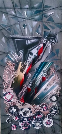 Art-collage. Crystals
