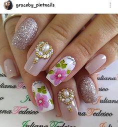 Acrylic Nail Designs, Acrylic Nails, Nail Pics, Gorgeous Nails, Nail Art, Beauty, Ideas, Simple Nails, Nail Stickers