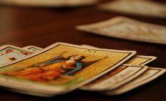Tarot cards ready to be read