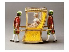 Toy sedan chair (automata) with Catherine the Great inside