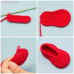 Elmo Inspired Baby Booties Crochet Pattern