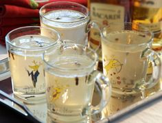 Hot Buttered Rum: 1¼ ounce Bacardi Gold Rum, 1 teaspoon sugar, ½ teaspoon butter, 4 whole cloves. Combine ingredients in a mug. Fill with boiling water, stir and enjoy.