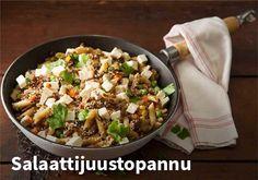 Salaattijuustopannu Resepti: Valio #kauppahalli24 #ruoka #resepti #salaattijuustopannu My Cookbook, Fodmap Recipes, Orange Crush, Kung Pao Chicken, Pasta Dishes, Fried Rice, Potato Salad, Salads, Dinner