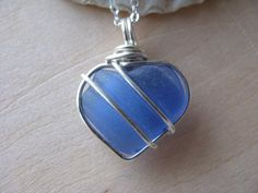 Gift For Sea Glass Lover Nautical Jewelry Gift Sea Glass Jewelry Beach Lover Jewelry Gift Light Sapphire Sea Glass Choker Necklace