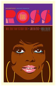 Diana Ross - More Today Than Yesterday Tour Music Art Print - 41 x 64 cm Music Artwork, Music Pics, Music Images, Music Wall, Tour Posters, Afro Art, Diana Ross, Concert Posters, Gig Poster