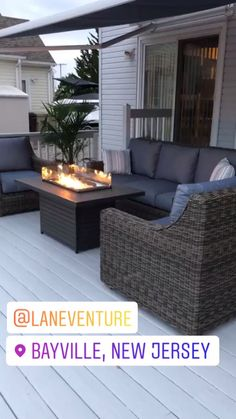 Pergola Ideas Discover Grey Sofa Fire Pit Group Lane Venture Oasis Grey sofa with WeatherMaster quick-drying cushions in color Vesper Denim. Brooks Fire Pit by Outdoor Greatroom Company Backyard Seating, Backyard Patio Designs, Pergola Designs, Backyard Landscaping, Backyard Ideas, Outdoor Seating, Garden Decking Ideas, Design Patio, Small Backyard Patio