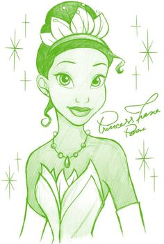 55 New Ideas For Drawing Disney Princesses Sketches Cartoon Disney Princess Sketches, Disney Drawings Sketches, Disney Princess Tiana, Cartoon Drawings, Cute Drawings, Drawing Disney, Disney Princesses, Disney Character Drawings, Tangled Princess