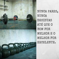 NUNCA PARES, NUNCA DESISTAS ATÉ QUE O BOM FOR MELHOR E O MELHOR FOR EXCELENTE.  #FitnessNutriTienda #MotivaçãoFitness #SuperaOsteusLimites  www.NutriTienda.com