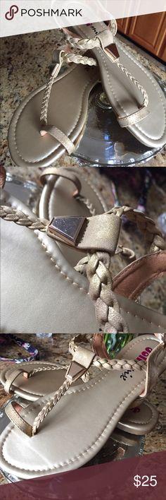 Sandals Super cute gold tone sandals! Jolly Mix Shoes Sandals