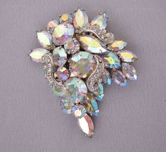 Vintage WEISS Rhinestone Brooch Holiday Party by jryendesigns, $48.00