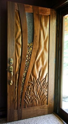 Hughes WoodWorks - Woodworker, C Huabinets, Custom Furniture House Front Wall Design, Wooden Front Door Design, Home Door Design, Main Entrance Door Design, Door Gate Design, Door Design Interior, Door Design Images, Modern Wooden Doors, Ceiling Design