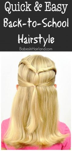 Quick & Easy Back-to-School Hairstyle from BabesInHairland.com #backtoschool #hairstyle #hair #easyhairstyle