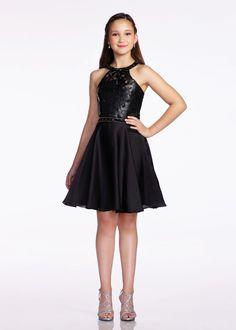 Lexie by Mon Cheri TW11675 Faux Leather Girls Dress