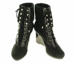 Ellen Tracy Cosy Suede Lace Up Boot