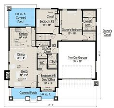 1200 square feet 1 story bungalow - Google Search