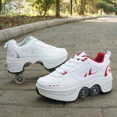 Kids Roller Skates, Roller Skate Shoes, 4 Wheel Roller Skates, Casual Sneakers, Casual Shoes, Shoes Sneakers, Men's Shoes, Sneakers With Wheels, Skate 4