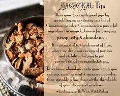 cinnamon, magic, magick, spells, tip, witch, correspondence, meaning wicca, spiritual #whitewitchparlour facebook.com/thewhitewitchparlour