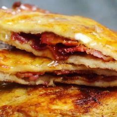 Bacon stuffed French toast.