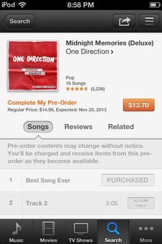 Guys! Midnight Memories is NOT explicit! Dont get your hopes up