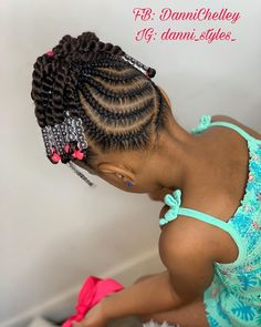 Crochet Ponytail – Hair is art Little Girls Natural Hairstyles, Toddler Braided Hairstyles, Toddler Braids, Lil Girl Hairstyles, Black Kids Hairstyles, Braids For Kids, Girls Braids, Curly Hairstyles, Little Girl Braid Styles