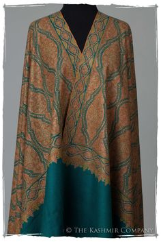 The Reflection - Grand Jamawar Pashmina Shawl Pashmina Shawl, Pashmina Wrap, Kashmiri Shawls, Asian Fabric, Indian Wear, Orange Color, Reflection, What To Wear, Deep Down