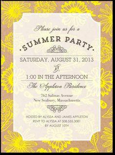 Garden Party Invite Idea