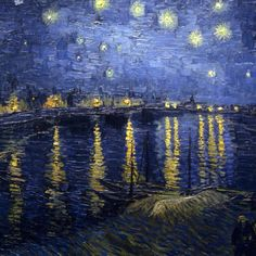 A starry night over the Rhone Van Gogh