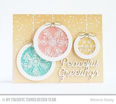 Snowflake Sparkle Card Kit - Melania Deasy  #mftstamps