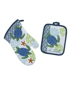 Take a look at this Sea Turtle Pot Holder & Oven Mitt by Kay Dee Designs on #zulily today!