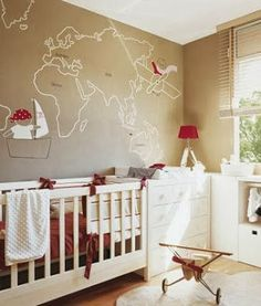 I like the rustic look. Loving the world map on the wall sounds like you and Steven! Colors Are Okay