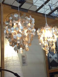 Gorgeous capiz shell chandeliers. I'll take one of each, please!