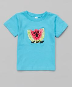 Look what I found on #zulily! Turquoise Watermelon Tee - Toddler by Petunia Petals #zulilyfinds