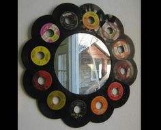 6 Plastic Recycling Ideas Turning Vinyl Records into Green Home Decorations : Recycled crafts and plastic recycling ideas offer great ways to personalize rooms with unique handmade home decorations Vinyl Record Projects, Vinyl Record Art, Vinyl Music, Record Decor, Vinyl Platten, Plastic Recycling, Old Vinyl Records, Records Diy, Music Decor