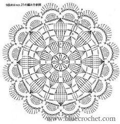 from Crochet motif Crochet Doily Rug, Crochet Doily Diagram, Crochet Dollies, Crochet Mandala Pattern, Crochet Circles, Crochet Doily Patterns, Crochet Round, Crochet Chart, Crochet Squares