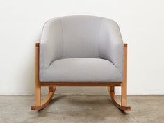 sustainable rocking chair in a mid century modern style
