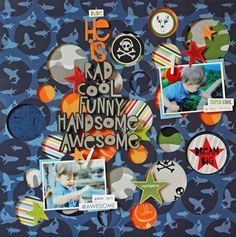 He Is.... - Scrapbook.com - New Bella Blvd collection Max is PERFECT for scrapbooking boys!