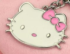 LARGE HELLO KITTY CHARM PENDANT/PINK BOW WITH RHINESTONE