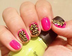 Pineapple nails nail art