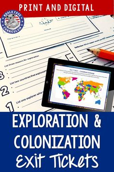 I always use these Exploration and Colonization exit tickets as a formative assessment in my middle school social studies classroom. It's a great way to know where I need to review, and with digital and printable formats, they are easy to use in my Google Classroom.